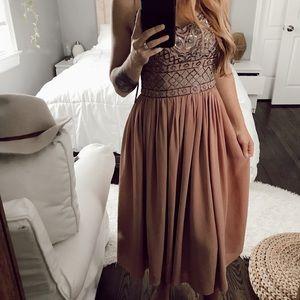 BHLDN dusty pink dress